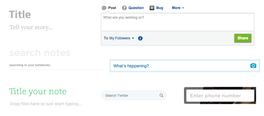 "Only the ""Search Twitter"" placeholder has the minimum required contrast level."