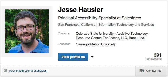 My LinkedIn profile banner.